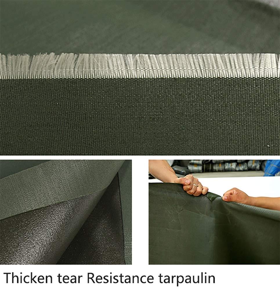 YY-ZP Addensare coperture per teloni Impermeabili Resistenti Resistenti Resistenti per Esterni Tarpauline per Isolamento Esterno - verde, 500G   M² (Dimensioni   4x7m)   Eccezionale    Prestazioni Affidabili  e035ad