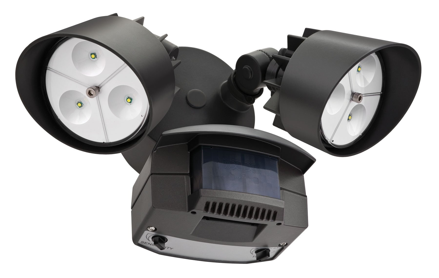 Lithonia Lighting OFLR 6LC 120 MO BZ LED Outdoor Floodlight 2-Light Motion Sensor, Black Bronze by Lithonia Lighting