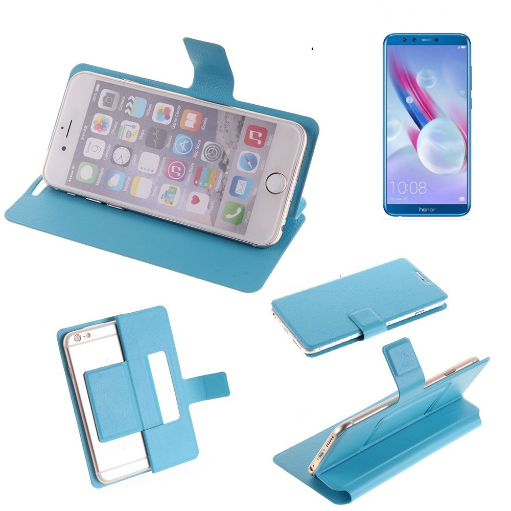 K-S-Trade Flipcover f/ür Huawei Honor 9 Lite Schutz H/ülle Schutzh/ülle Flip Cover Handy case Smartphone Handyh/ülle blau
