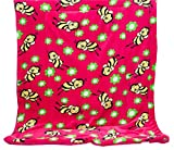 Elegant Home Hot Pink Green Yellow Black Kids Soft & Warm Sherpa Baby Toddler Girl Sherpa Blanket Pink Bee Printed Borrego Stroller or Toddler Bed Blanket Plush Throw 40X50# Pink Bee