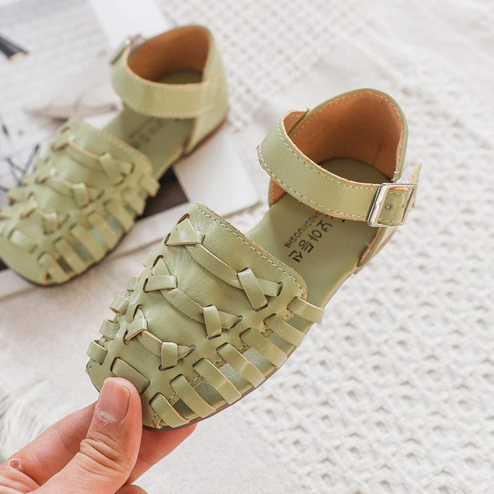 Toddler//Little Kid//Big Kid Kids Leather Closed Toe Sandals Outdoor Flat Shoes
