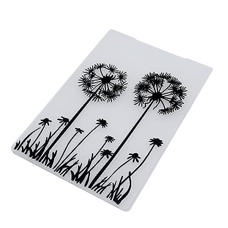 lalang plastic butterfly flower embossing folder template diy card