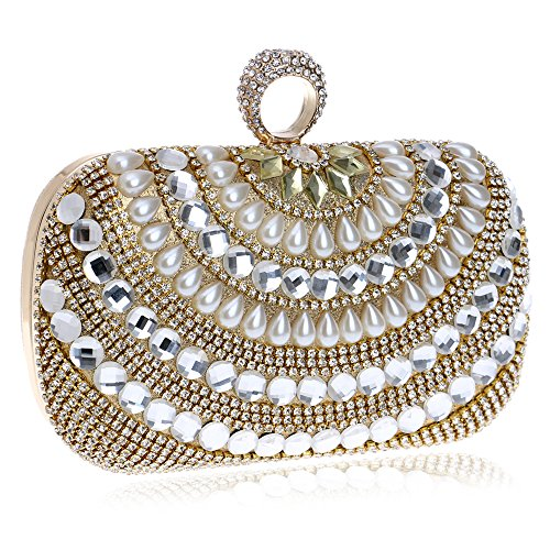 Symbolove Womens Top-Grade Fashion Evening-handbags Exquisite Evening Party Wedding Clutch Bag For Womens-C1