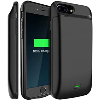 LoHi Battery Case, for iPhone 8/7 / 6s / 6 Portable & Protective 5000mAh Capacity Extended Smart Battery Charging Case, Support Headphones, 4.7'' Black