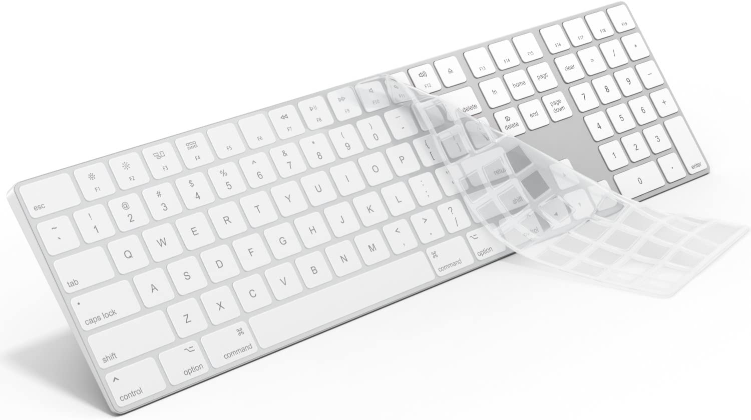 Silicone Thin Keyboard Skin Cover Protector with Numeric Keypad for iMac Black,Black