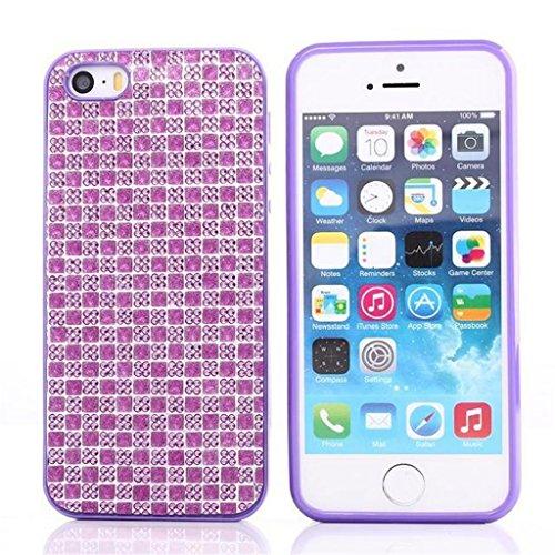 iPhone 5G/5S Hülle, Apple iPhone 5G/5S Hülle Lifetrut® [Lila] TPU Case Schutzhülle Silikon Ultradünnen Anti-stoß sehr dünne case