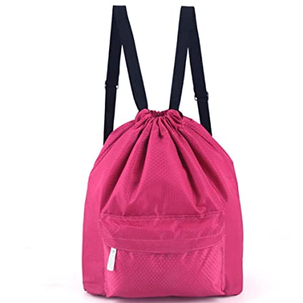 2b406d5ecb4d Zmart Swim Pool Drawstring Bag Rose Red Portable Waterproof Gym Beach  Backpack