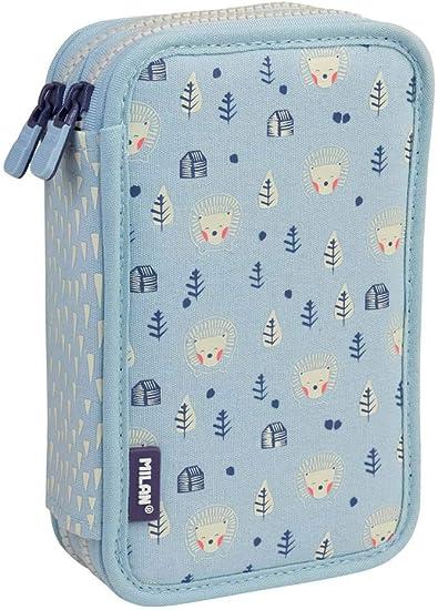 Estuche Milan Berrywood Blue Doble 36 Piezas: Amazon.es: Oficina y papelería