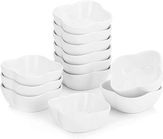 MALACASA 6 tlg Porzellan Mini Souffléförmchen Set 11cm Serie Ramekin.Dish