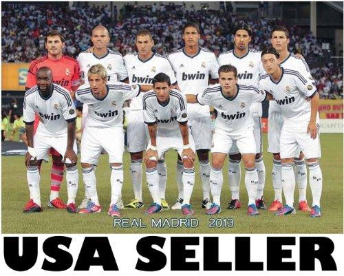 Real Madrid 2013 team photo POSTER 34 x 23.5 Cristiano Ronaldo Kaka Xabi Iker Casillas soccer football (poster sent FROM USA in PVC - Real Madrid Kaka