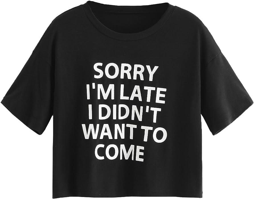 d2f2789a2cc SweatyRocks Women s Short Sleeve Print Crop Top T Shirt Black  1 S ...