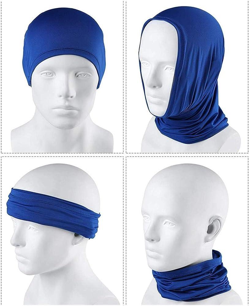SEALEN Lot de 4 Foulards Rafra/îchissants pour le Visage avec Protection UV du Cou et Masque anti UV Bandana d/ét/é