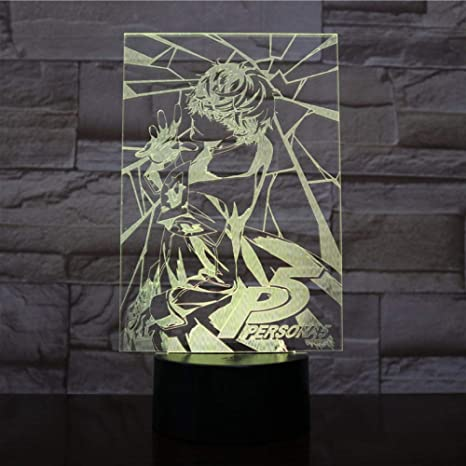 Christmas Gift Rpg P5 Persona 5 Japanese Akira Kurusu Figure Usb 3d Led Night Light Decoration Boys Child Kids Baby Gifts Table Lamp Amazon Com