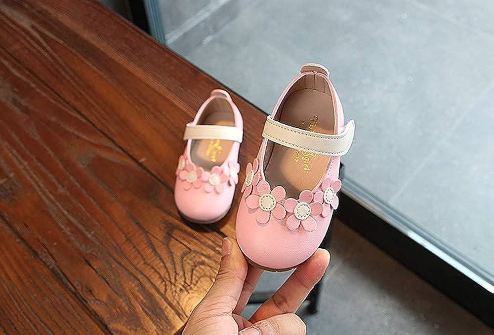 cinnamou Kinder Kind M/ädchen Lederschuhe Prinzessin Single Tanzen Freizeitschuhe Blume Flach Schuhe Mode Turnschuhe