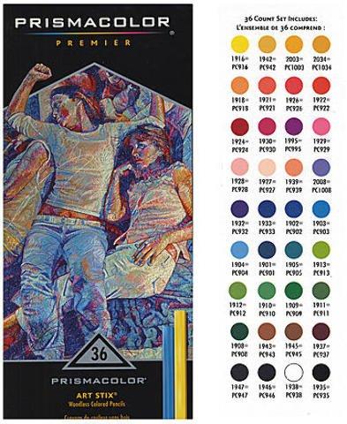 Prismacolor Art Stix Sets (Set of 36) 1 pcs sku# 1841127MA ()