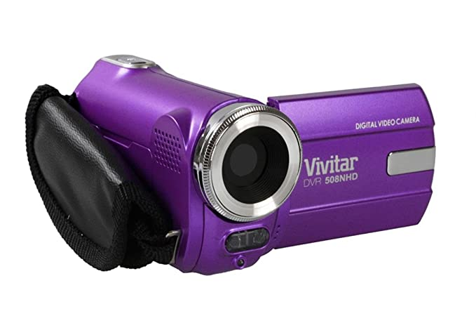 amazon com vivitar dvr508nhd 8 1 mp hd digital camcorder purple rh amazon com
