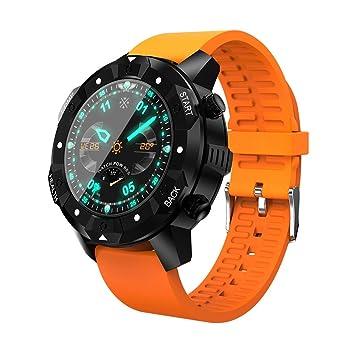 OOLIFENG GPS Relojes inteligentes Monitores actividad Pulsómetros IP67 Impermeable Brújula Pronóstico del tiempo Deportes Reloj, Orange: Amazon.es: Deportes ...