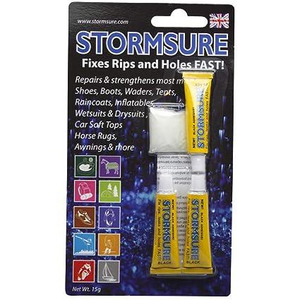 Amazon.com: Stormsure negro reparación Flexible calcomanía 3 ...