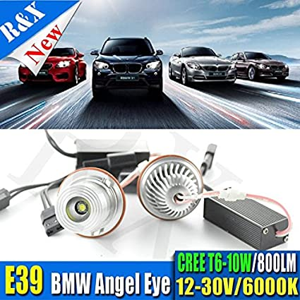 2 x 10 W CREE Chips LED Angel Eyes de Halo anillo de luz bombillas para