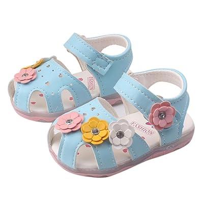 Amazon.com: Lanhui - Sandalias de piel para bebé, diseño de ...