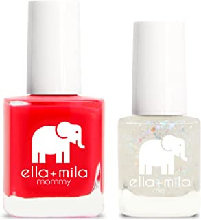 product image for ella+mila Nail Polish, mommy&me set - Melonade + Twinkle Twinkle