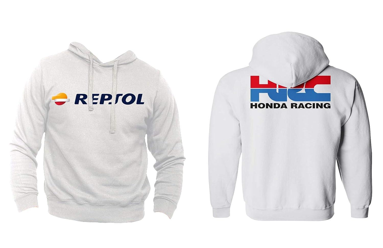 Felpa Personalizzata Honda Racing HRC Moto GP Repsol Motors Marquez MM93 Sport Senza Tascone
