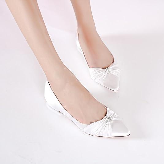 b92c9d6208b5f L YC Chaussures de Mariage pour Femmes Satin Jane Talons Hauts Grande Taille  Bout fermé Or Court Shoes Party  Amazon.fr  Chaussures et Sacs