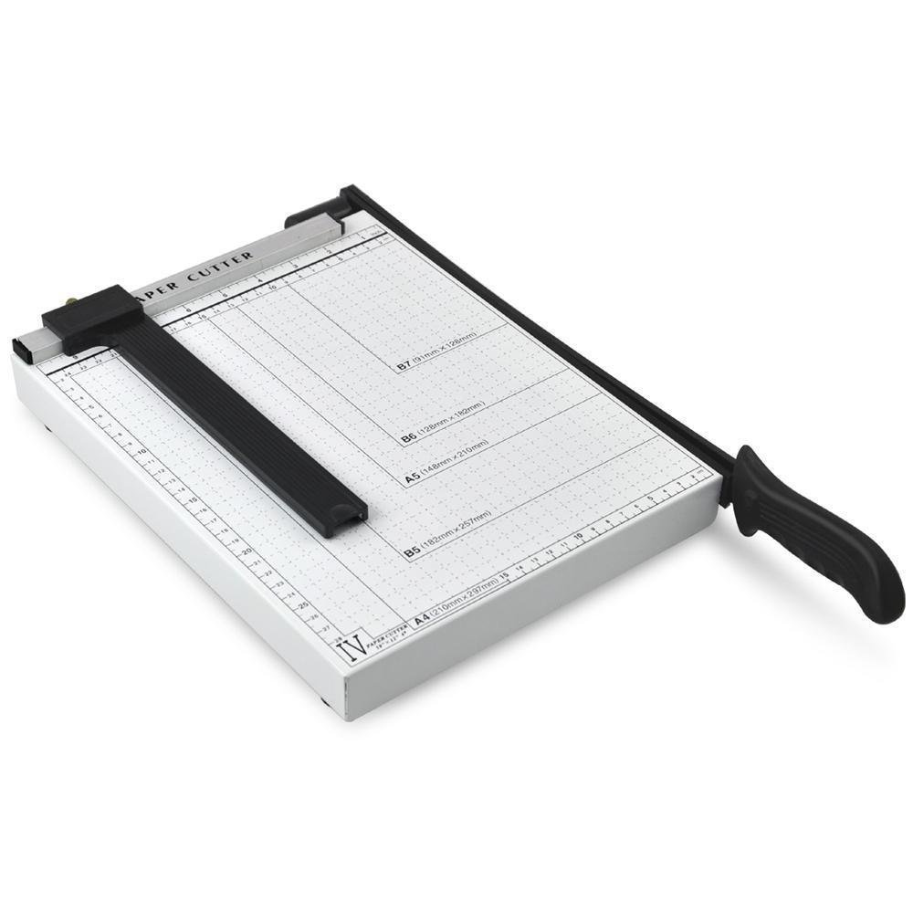 IUME 12 inch Paper Cutter Blade Paper Trimmer Machine Black Letter Size A4 Size Paper Cutter with Automatic Security Safeguard for Craft Paper and Photo