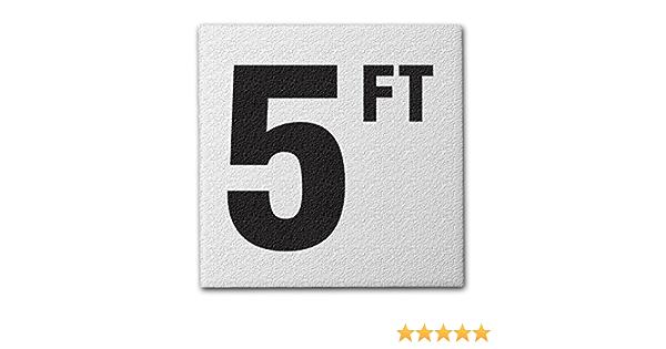 Aquatic Custom Tile Ceramic Swimming Pool Deck Depth Marker 10 FT Abrasive Non-Slip Finish 5 inch Font