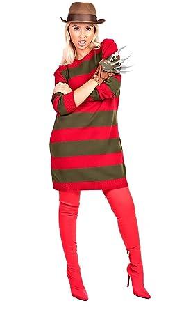0271822a959 Ikrush Womens Freddie Striped Knitted Jumper Fancy Dress  Amazon.co ...