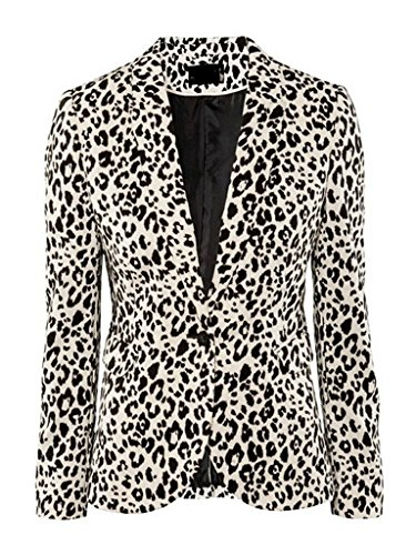Choies Womens Cotton Leopard Collarless