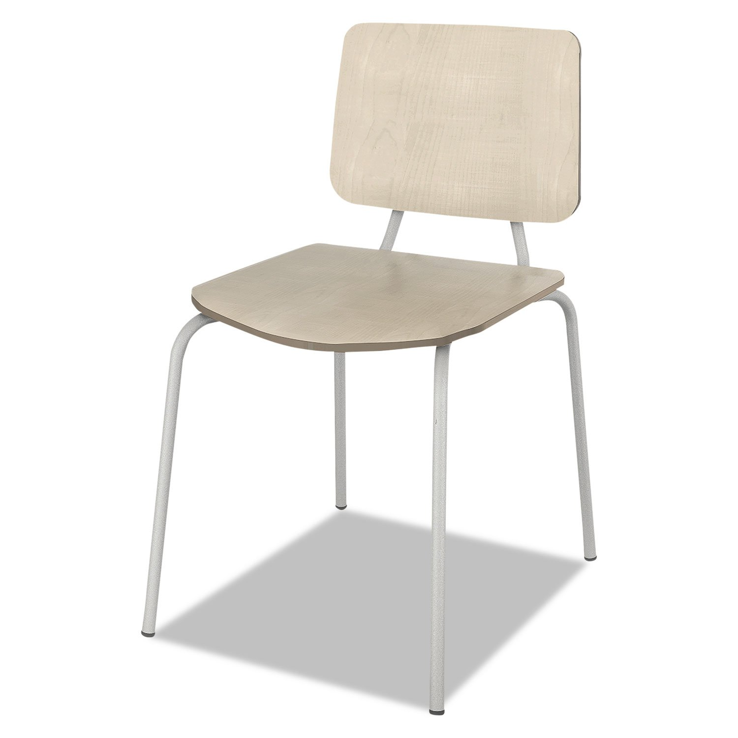 Linea Italia TR508OAT Trento Line Sienna Stacking Wood Chair, Oatmeal, Stacks 6 High (Case of 2)