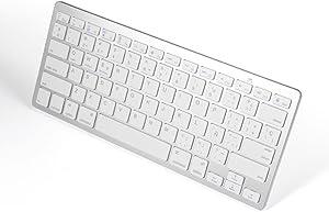 Spanish Keyboard, 78-Key Spanish Wireless Bluetooth Ultra Slim Keyboard Portable Keyboard Compatible with Windows 2000, NT, XP, Vista, Mac iOS.