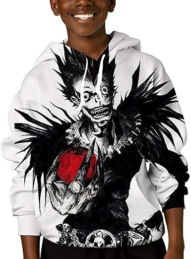 BatteeFF Death Note Ryuk Cosplay Unisex Cute Hoodie Teenager Sweater Design Sweatshirt Sport Hoodie for Boy&Girl