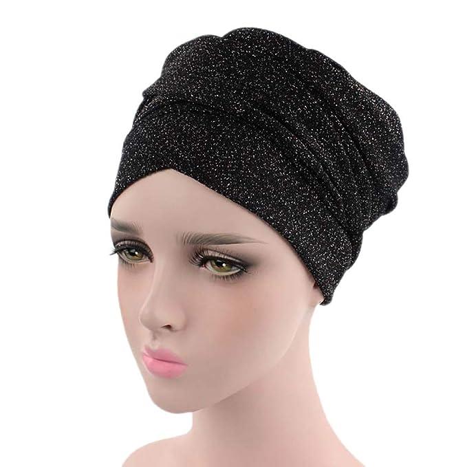 süß weltweit bekannt uk billig verkaufen Janly Frauen Indien Afrika Muslim Stretch Turban Hut Kopftuch Wrap Cap  Heller Seidenstirnband Hut Muslim Kopfbedeckung