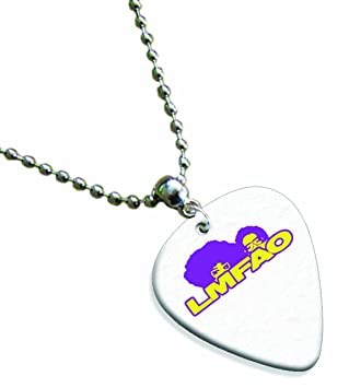 Lmfao llavero con Premium collar de púa de guitarra: Amazon ...