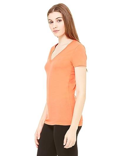 a1a6835c Bella + Canvas Ladies Jersey Short-Sleeve Deep V-Neck T-Shirt ...