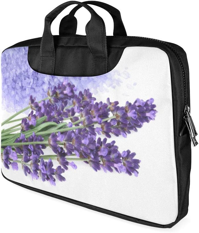 13 Inch Purple Bunch Lavender Flowers Blossom Mens Briefcase Laptop with Handle Lightweight Laptop Case Bag Fits MacBook Air Pro