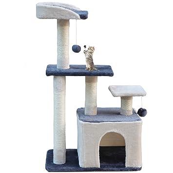 MC Star Árbol para Gato con Rascador de 100cm,Arañazo Juguete de Gatos de Natural