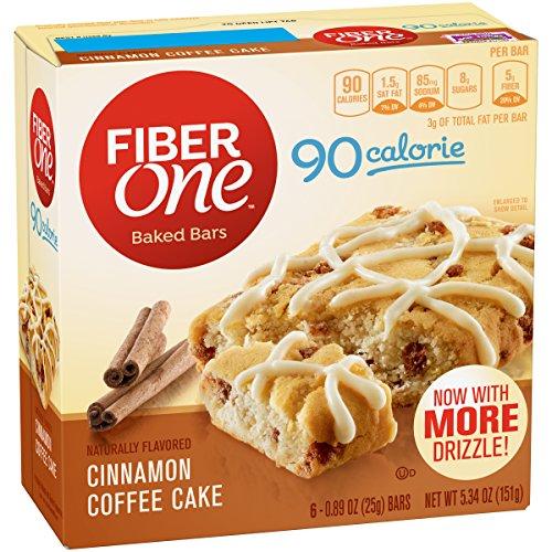 (Fiber One 90 Calorie Soft-Baked Bar, Cinnamon Coffee Cake, 6 Fiber Bars, 5.34 oz)