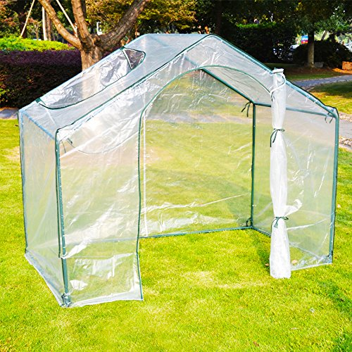 BenefitUSA 1002-2 Outdoor Gardening Greenhouse, Transparent