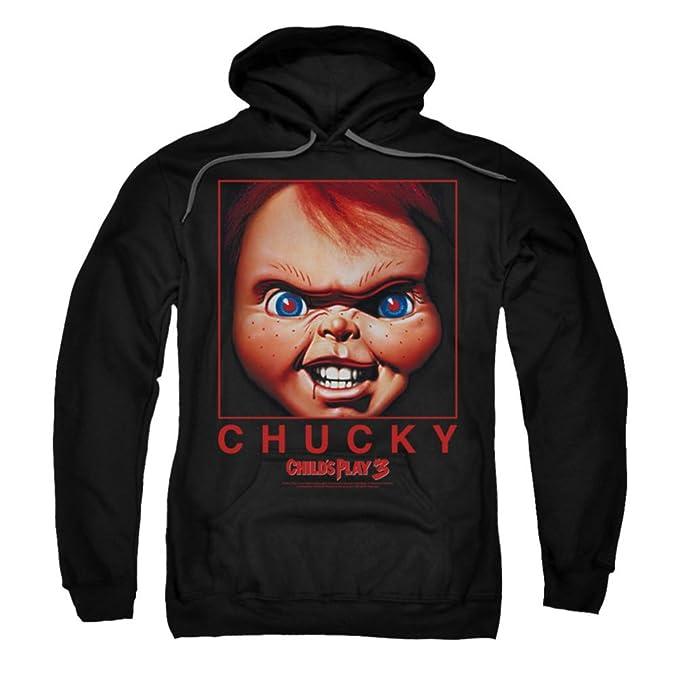 Un Juego de niños 3 Película de Terror Chucky Caja Close Up Adultos Sudadera con Capucha: Amazon.es: Ropa y accesorios