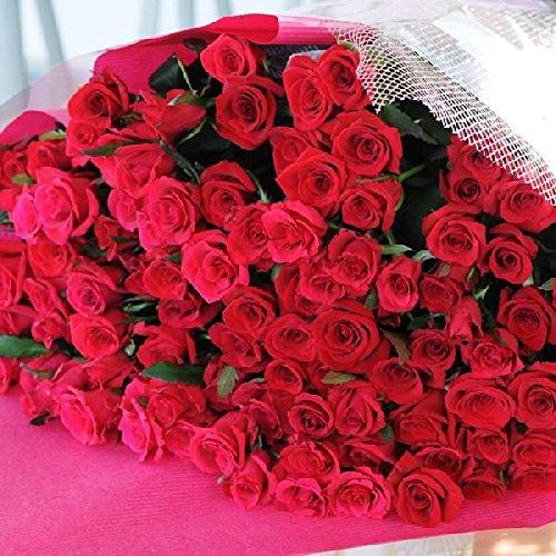 最高級のトップローズを使用した 赤いバラの花束 90本 エーデルワイス 花工房 B00NQMPDKQ レッド|90 レッド