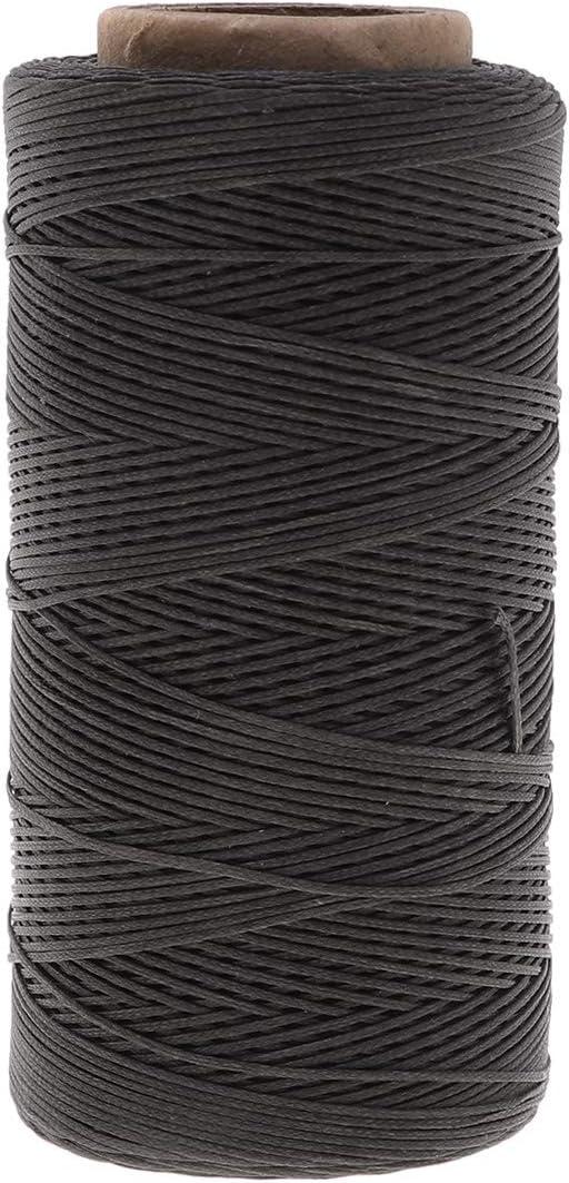 SUPVOX 150D 0.8mm Hilo de coser con cordón de cuero cosido a mano cordón de cuerda para embarcaciones de bricolaje (260m): Amazon.es: Hogar