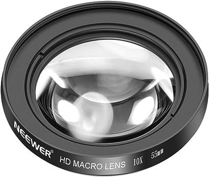 Neewer 55mm 10X Macro Primer Plano Lente con Vidrio ...