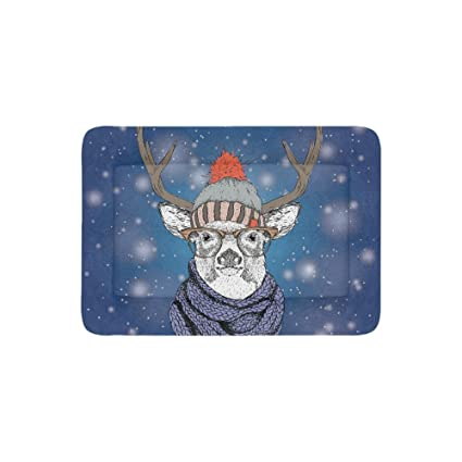 Amazon Com Artsadd Fashion Custom Pet Bed Christmas Card With Deer