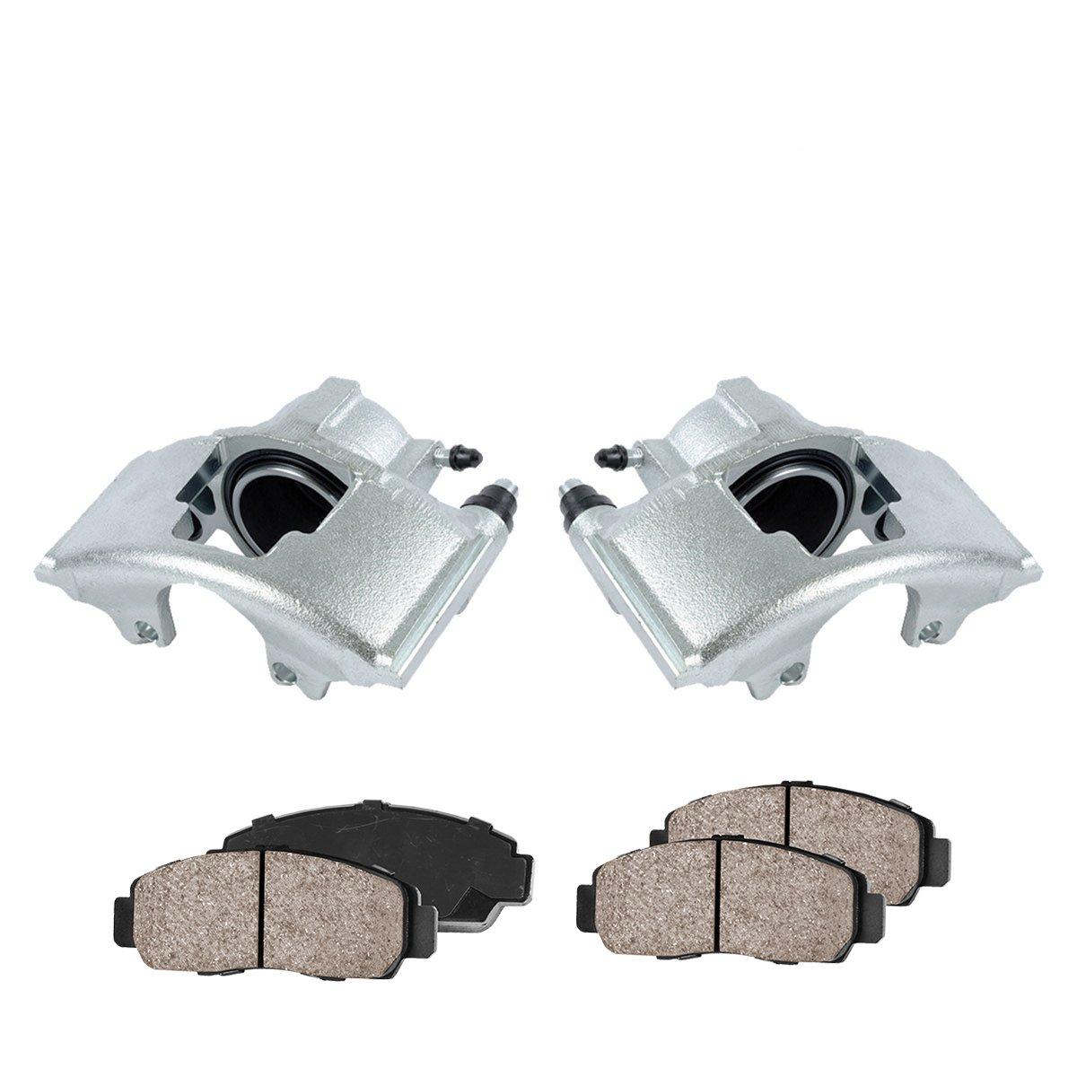 COEK00637 2 FRONT Premium Loaded OE Caliper Assembly Set Quiet Low Dust Ceramic Brake Pads