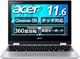 Google Chromebook Acer ノートパソコン Spin 311 CP311-3H-A14N/E 11.6インチ 360°ヒンジ 英語キーボード MediaTek プロセッサー M8183C 4GBメモリ 32GB eMMC タッチパネル搭載
