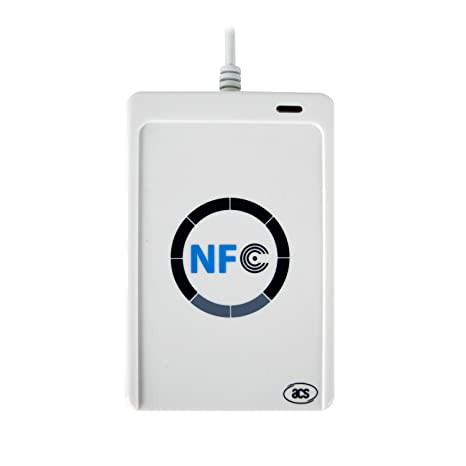 ACR122U USB NFC Reader ChipSilicon Contactless Smart Card Reader External Devices & Data Storage at amazon