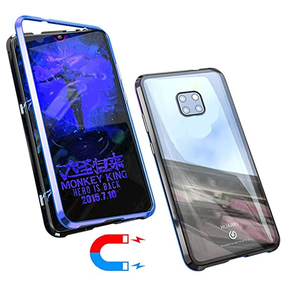 separation shoes 703c7 0ca47 Amazon.com: Magnetic Adsorption Flip Case for Huawei Mate 20 Pro ...